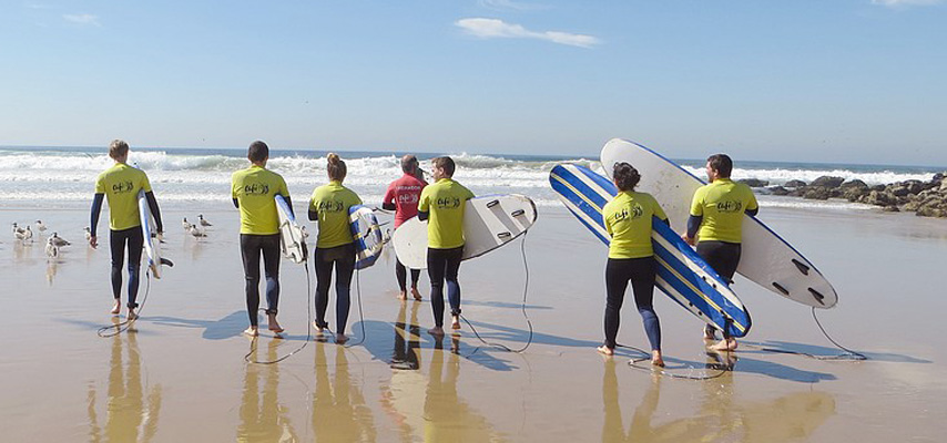 Surf school at Costa Da Caparica